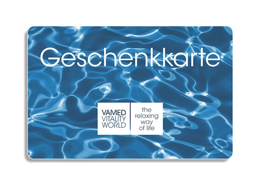 Gift card design, water background
